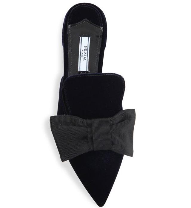 20c3dfdc2e3d prada-velvet-bow-point-toe-mule-slides – Glam York