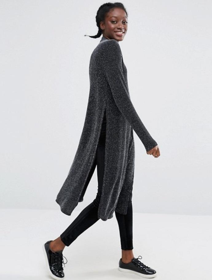 3dd5edb1749 monki-high-neck-metallic-side-split-tunic-top – Glam York