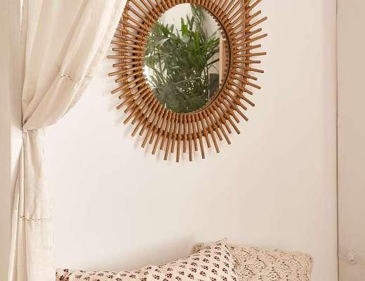 Sun Rattan Mirror