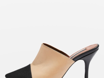Topshop Gwen Pointed Cap Toe Mules