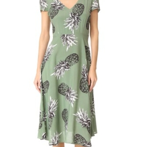 BB Dakota Emilienne Pineapple Print Dress