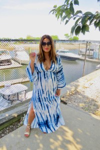 Forever 21 Plunging Tie Dye Maxi