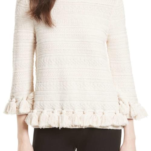 Kate Spade Textured Tassel Pullover