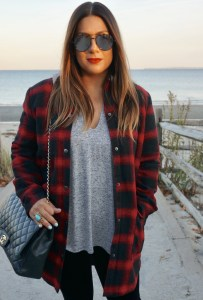 BB Dakota Bradley Fleece Lined Plaid Coat