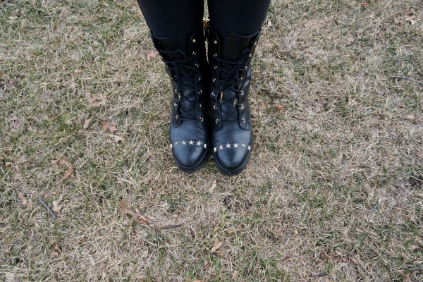 MICHAEL Michael Kors Cody Star Studded Combat Boot