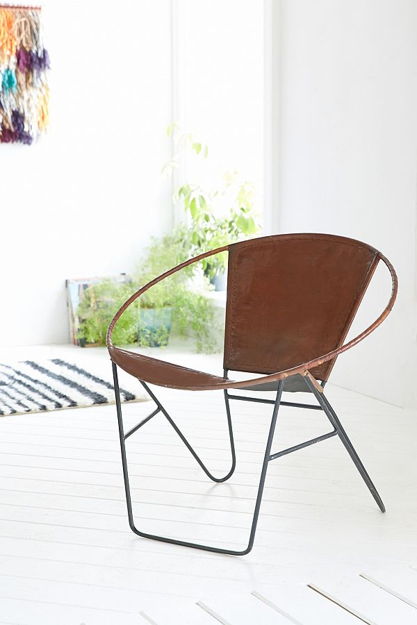 Jax Leather and Wire Chair
