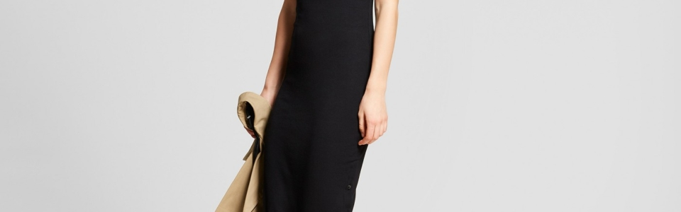 Who What Wear Button Side Slit Midi T Shirt Dress