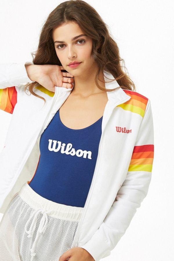 Forever 21 Wilson Logo Jacket