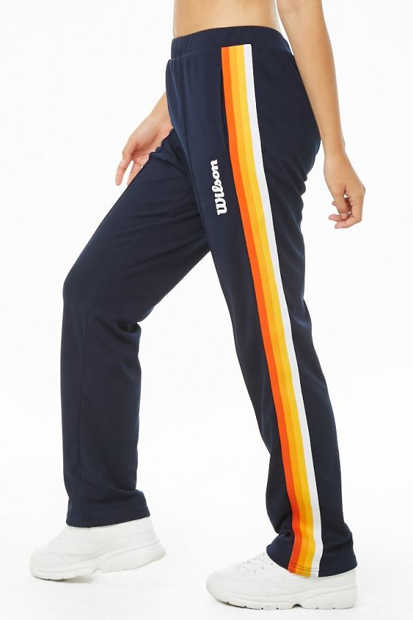 Wilson Striped-Trim Logo Track Pants