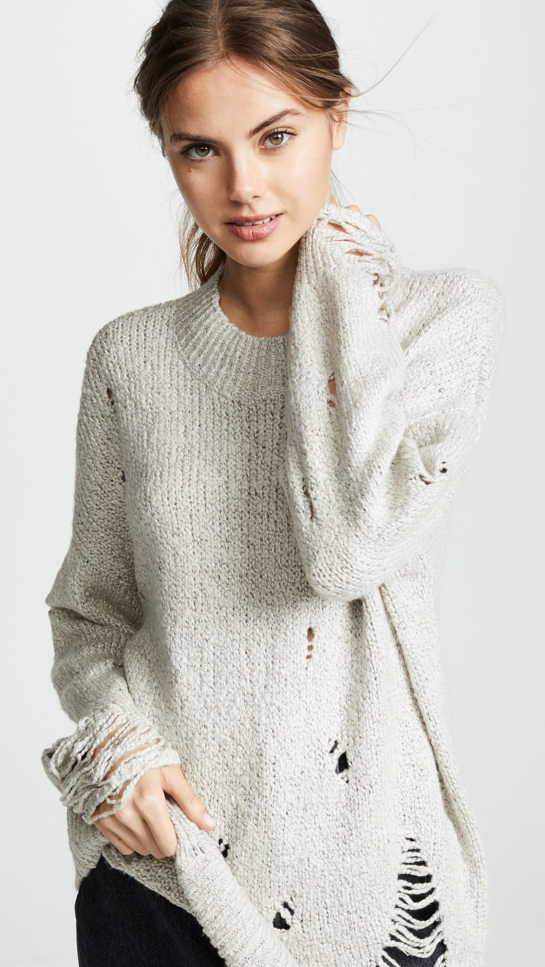 One Teaspoon Laddered Whisky Knit Sweater