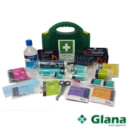 1-10 Person First Aid Kit Burns & Eyewash 500ml