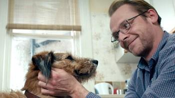 Pegg and Mojo the dog