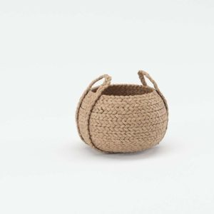 Beachcomber Handled Basket Round Pottery Barn