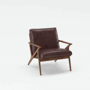 3D Chair Сrate&Barrel Cavett in Leather