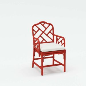Macau Armchair Red Ballard Designs