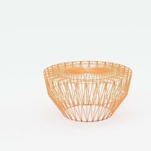 Orange Drum Stool YLiving