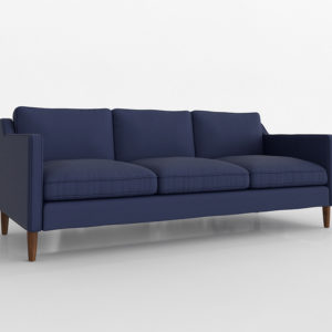 3D Sofa West Elm Hamilton Navy