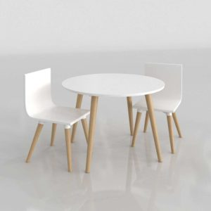 Pint Sized Table and Chairs Set C&B