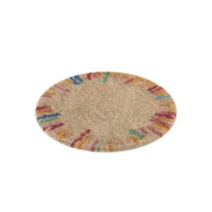 Round Multicolored Shag Rug The Land Of Nod