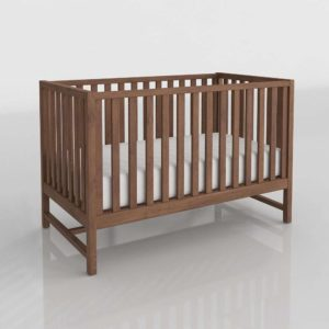 Taylor Walnut Crib Nursery Interior
