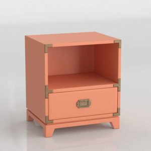 Kids Campaign Nightstand Nursery Interior