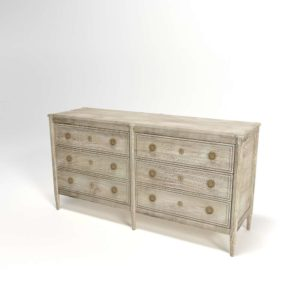 Washed Wood Six-Drawer Dresser Anthropologie