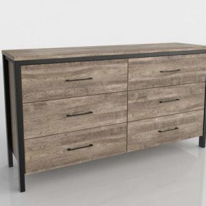 Munich 6 Drawer Double Dresser