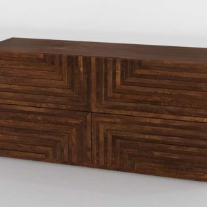 Maze Wood Low Dresser CB2