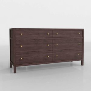 Keane Wenge Drawer Dresser Crate&Barrel