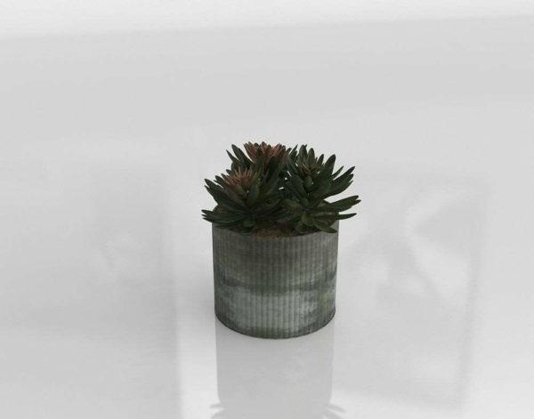 Frosted Zinc Planter Outdoor Decor