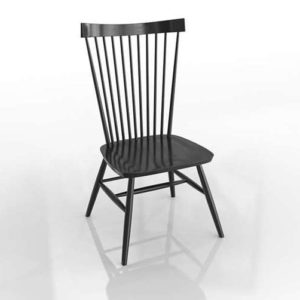 MarlowII Black Wood Dining Chair Crate and Barrel