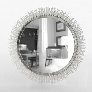 Clarendon Large Round Silver Wall Mirror