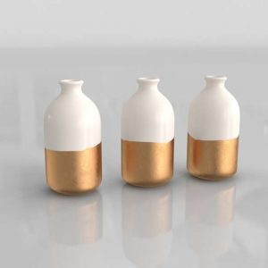 Honeycomb Studio Bud Vases Set of 3
