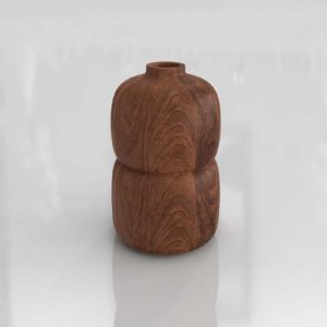 Melanie Abrantes Hardwood Bud Vase Decoration