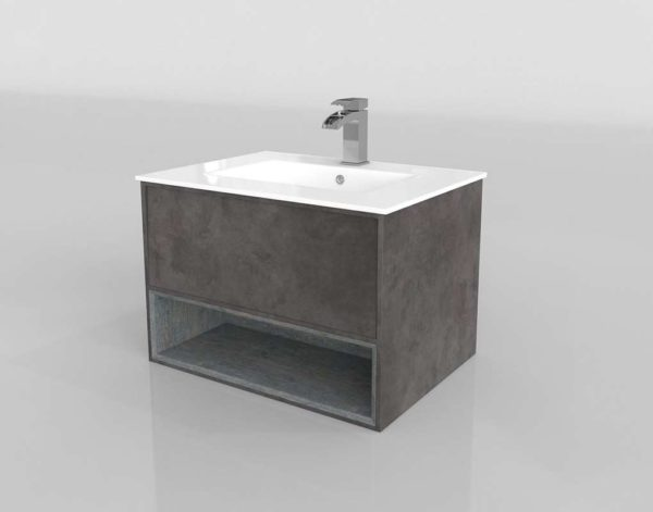 Cabinet w Basin Faucet Bathroom Furniture
