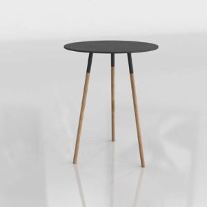 Tri Black Side Table Unison Home