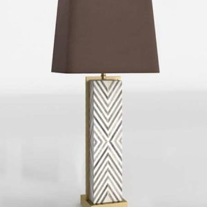 Chevron Deco Table Lamp West Elm