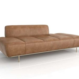 CB2 Lawndale Leather Daybed 3D Model