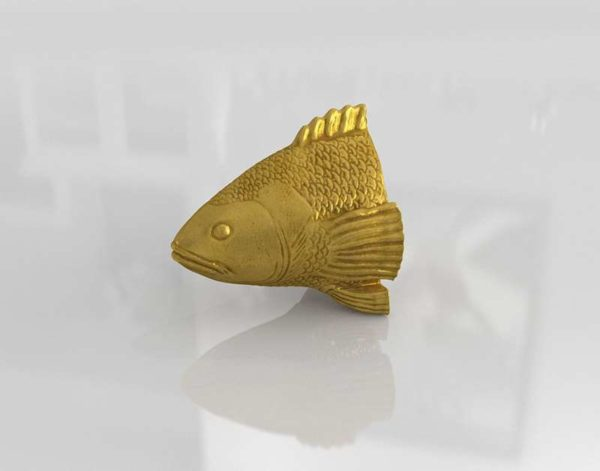 Escultura 3D de Pared CB2 Stan The Goldfish
