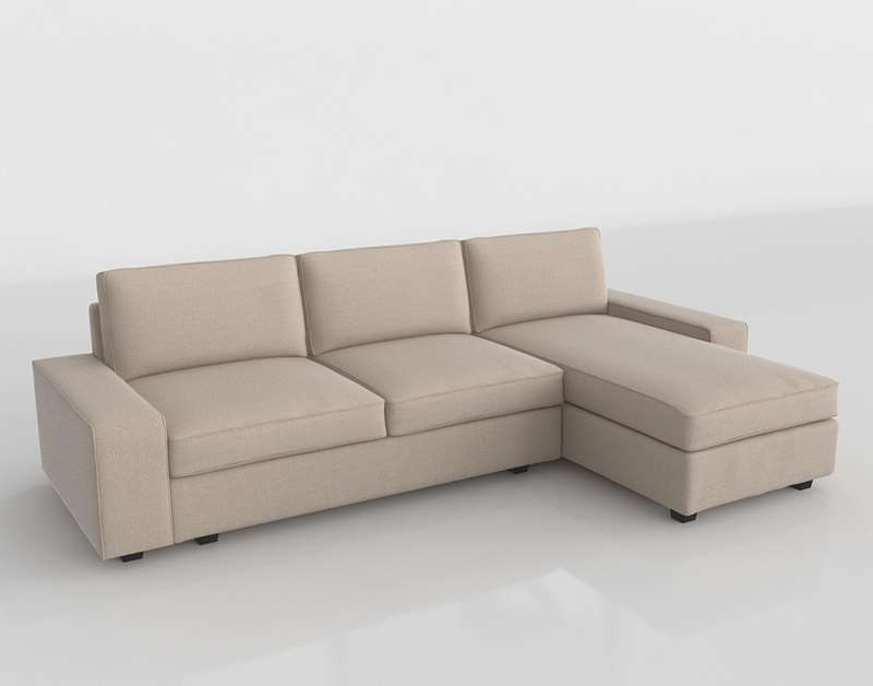3d Kivik Sofa Chaise Interior Design Ikea Glancing Eye