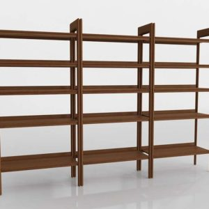 Tate Wide Bookcases Set Of 3 CB w 3D