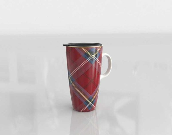 WilliamsSonoma Red Plaid To Go Mug