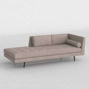 Daybed 3D Model Settees&Chaises Living Room 117