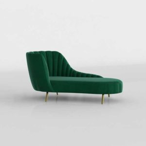 Wayfair Canh Chaise Lounge Emerald Green