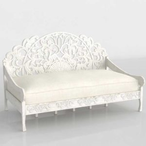 Worldmarket Carved Zarah 3D Model Daybed