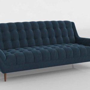 Lexmod Response Upholstered Fabric Sofa In Azure