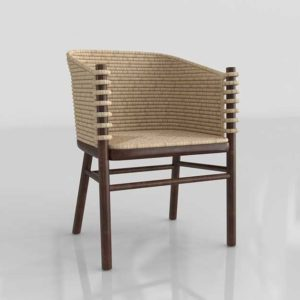 CB2 Tejido Dining Chair