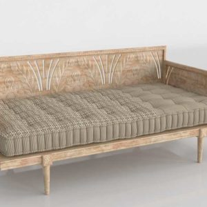 Anthropologie Carved Lovella Daybed