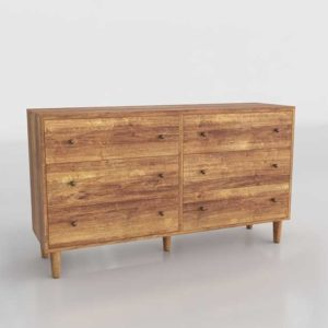 Urbanoutfitters Amelia 6 Drawer 3D Dresser