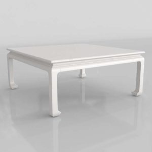 Williams Sonoma Ming Square 3D Coffee Table